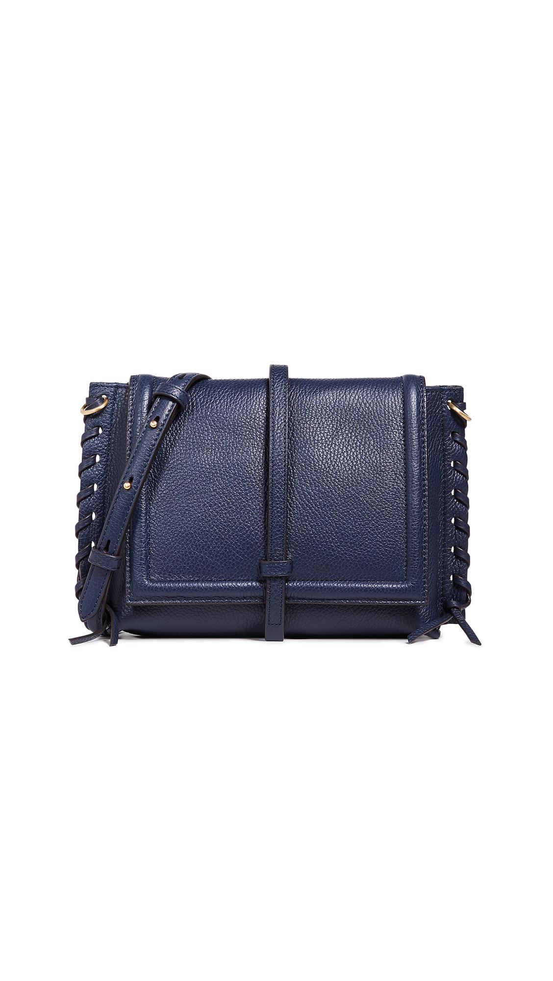 ANNABEL INGALL Elizabeth Saddle Bag in Navy