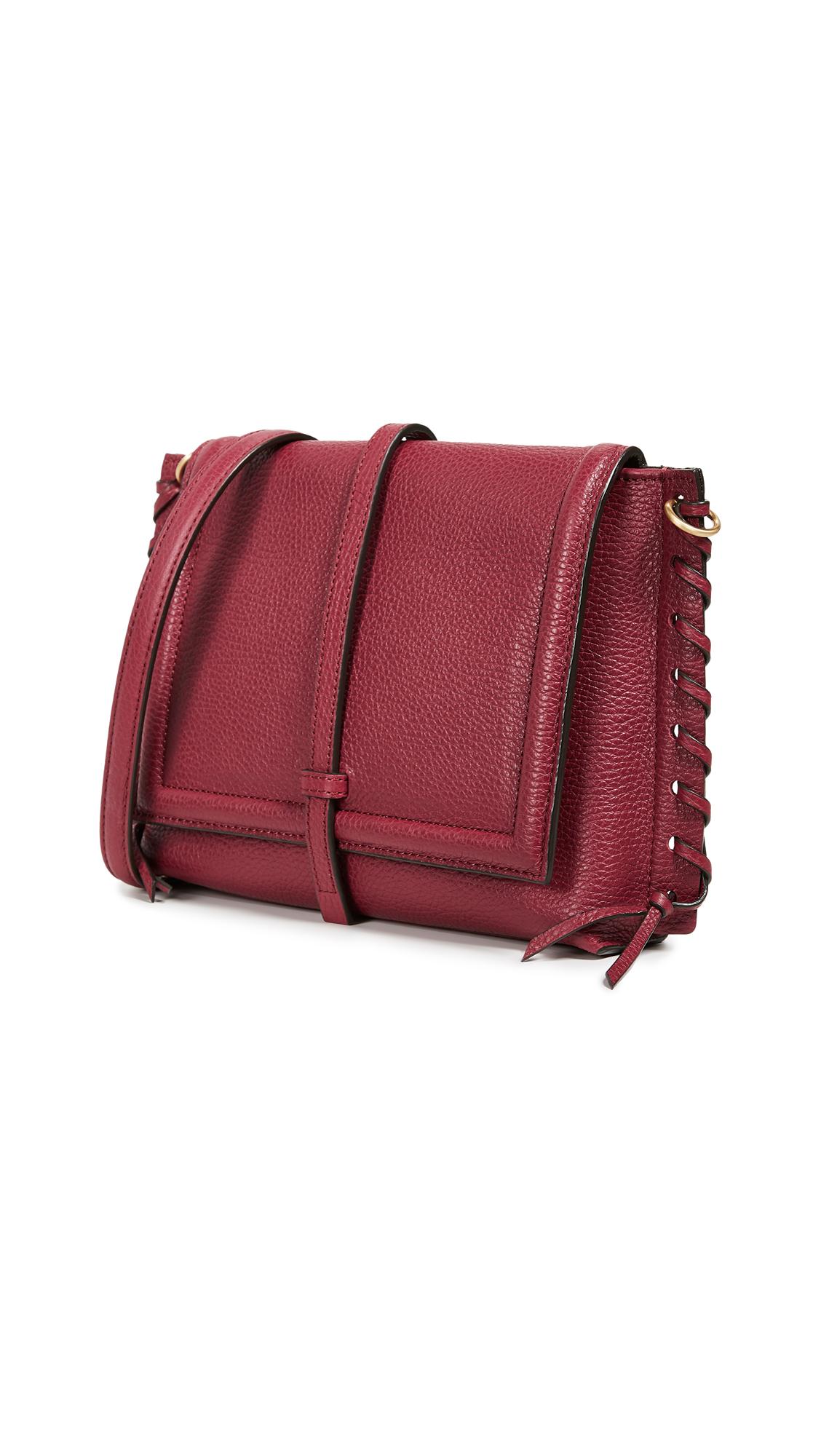 ANNABEL INGALL Elizabeth Saddle Bag in Barberry