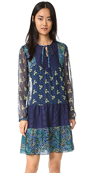 Anna Sui Flourish Print Combo Dress