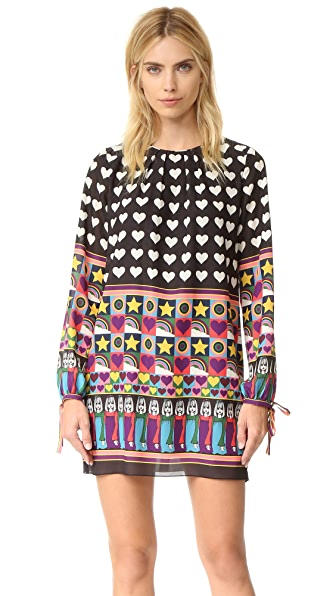 Anna Sui All You Need Is Love Dress - Black Multi