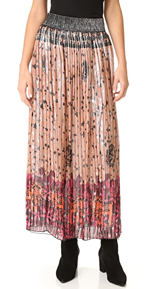 Anna Sui Lion In The Sky Metallic Maxi Skirt - Blush Multi at Shopbop