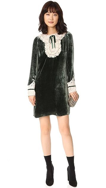 Anna Sui Velvet & Romantique Lace Dress