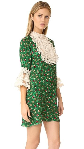 Anna Sui Paper Flower & Lace Dress