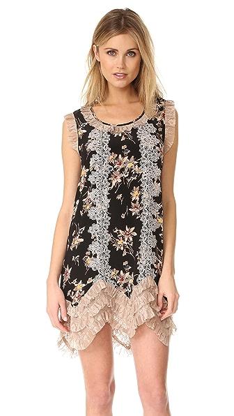 Anna Sui Wildflower Print Dress