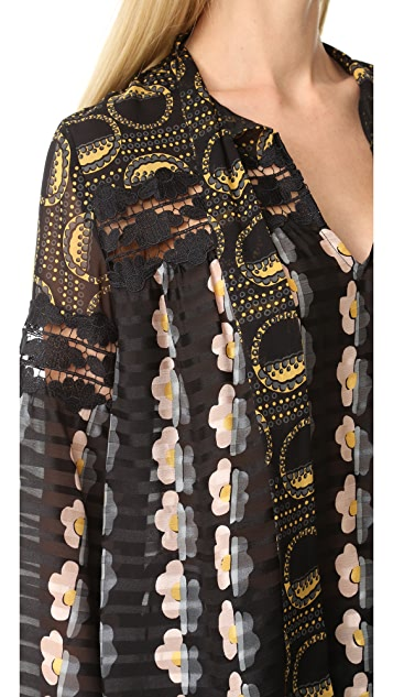 Anna Sui Cloud Daisy & Deco Dot Tunic