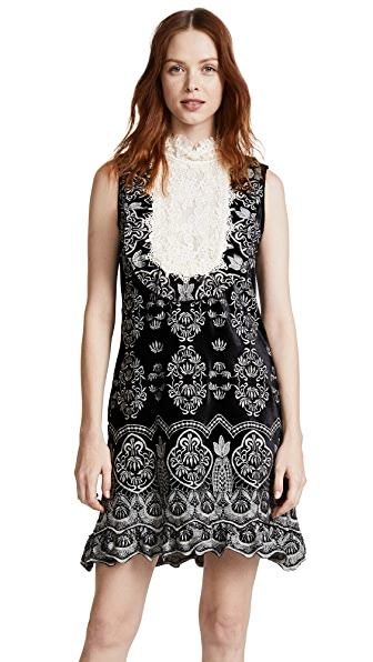 Anna Sui Embroidered Victorian Velvet Dress at Shopbop
