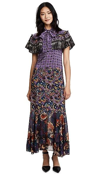 Anna Sui Paisley Fringe Maxi Dress at Shopbop