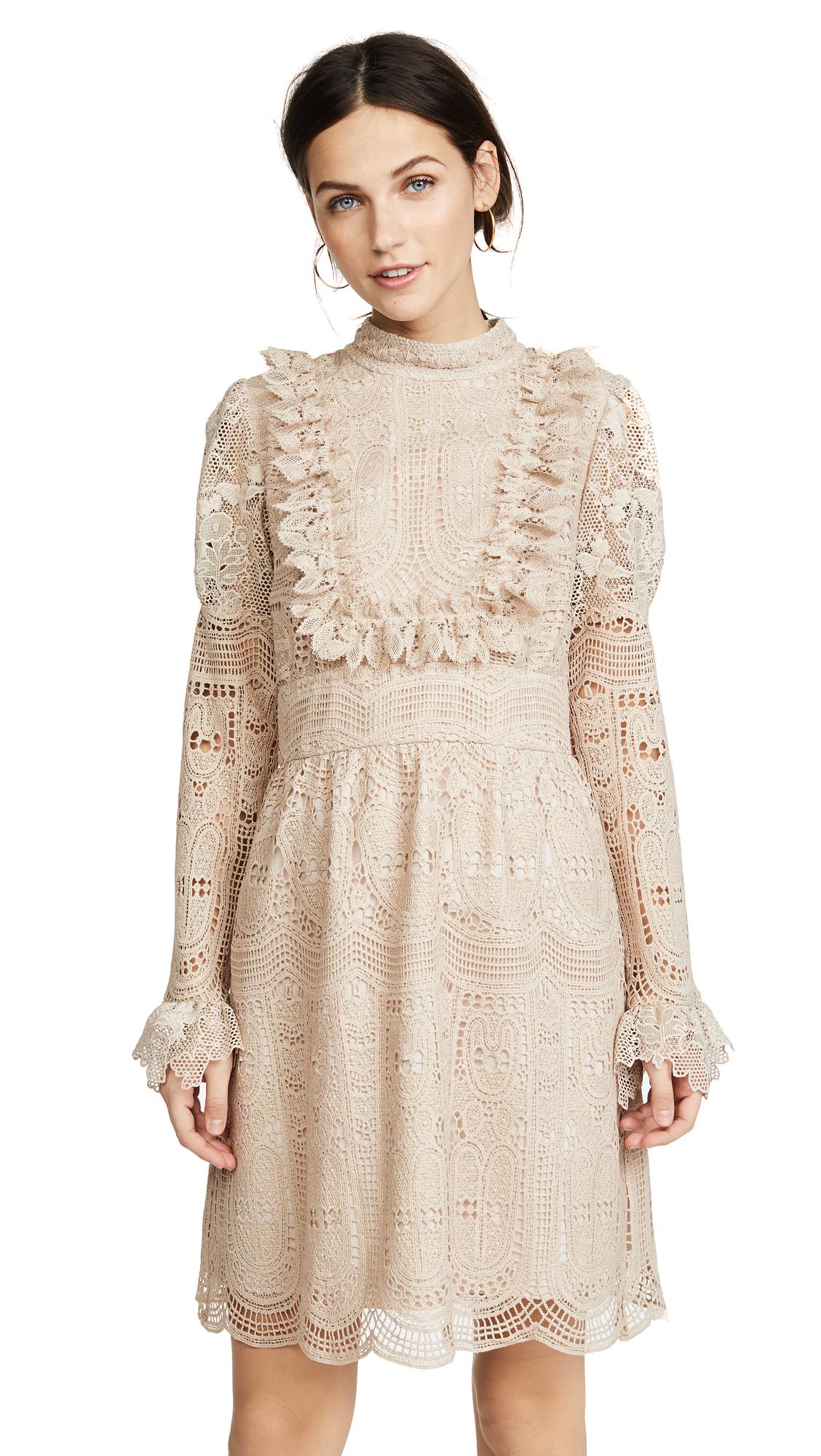 Anna Sui Cupid's Clouds & Scallop Lace Dress