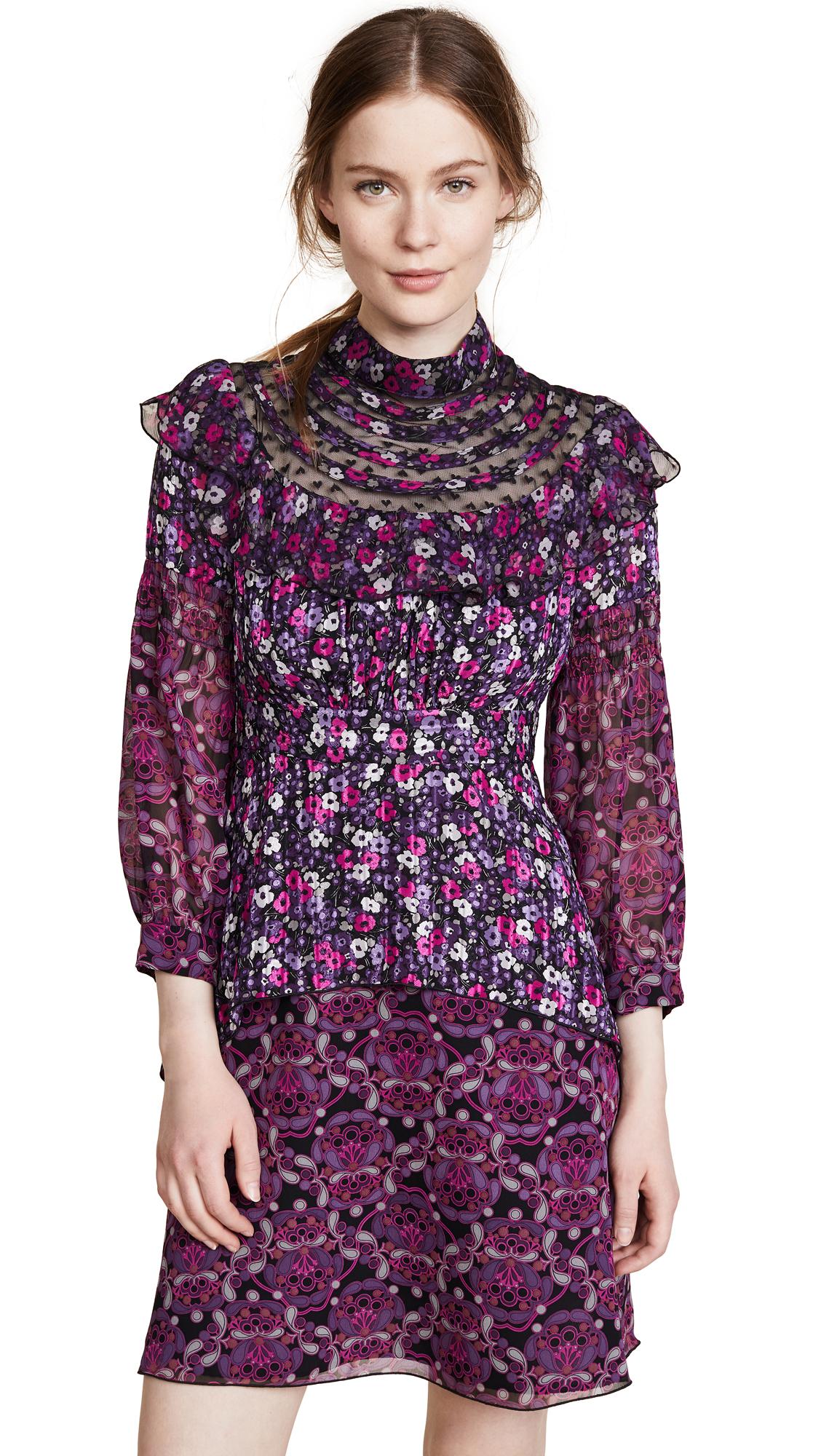 Anna Sui Joy Dress In Iris Multi