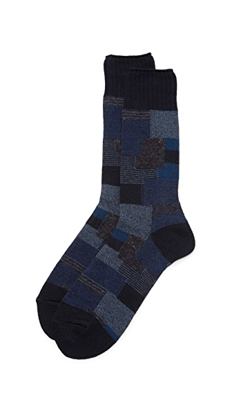 Anonymous Ism Patchwork Crew Socks