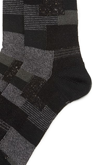 Anonymous Ism Patchwork Crew Socks