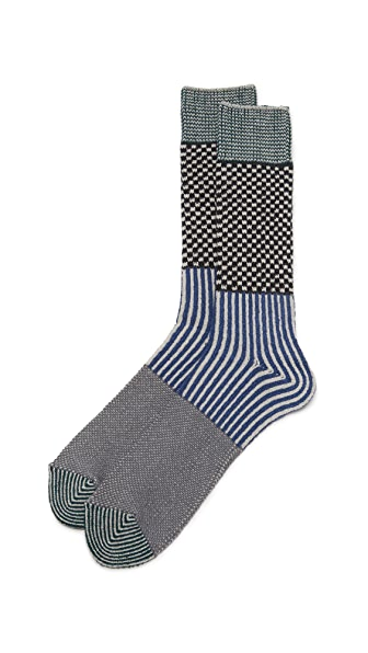 Anonymous Ism Mulit Pattern Crew Socks