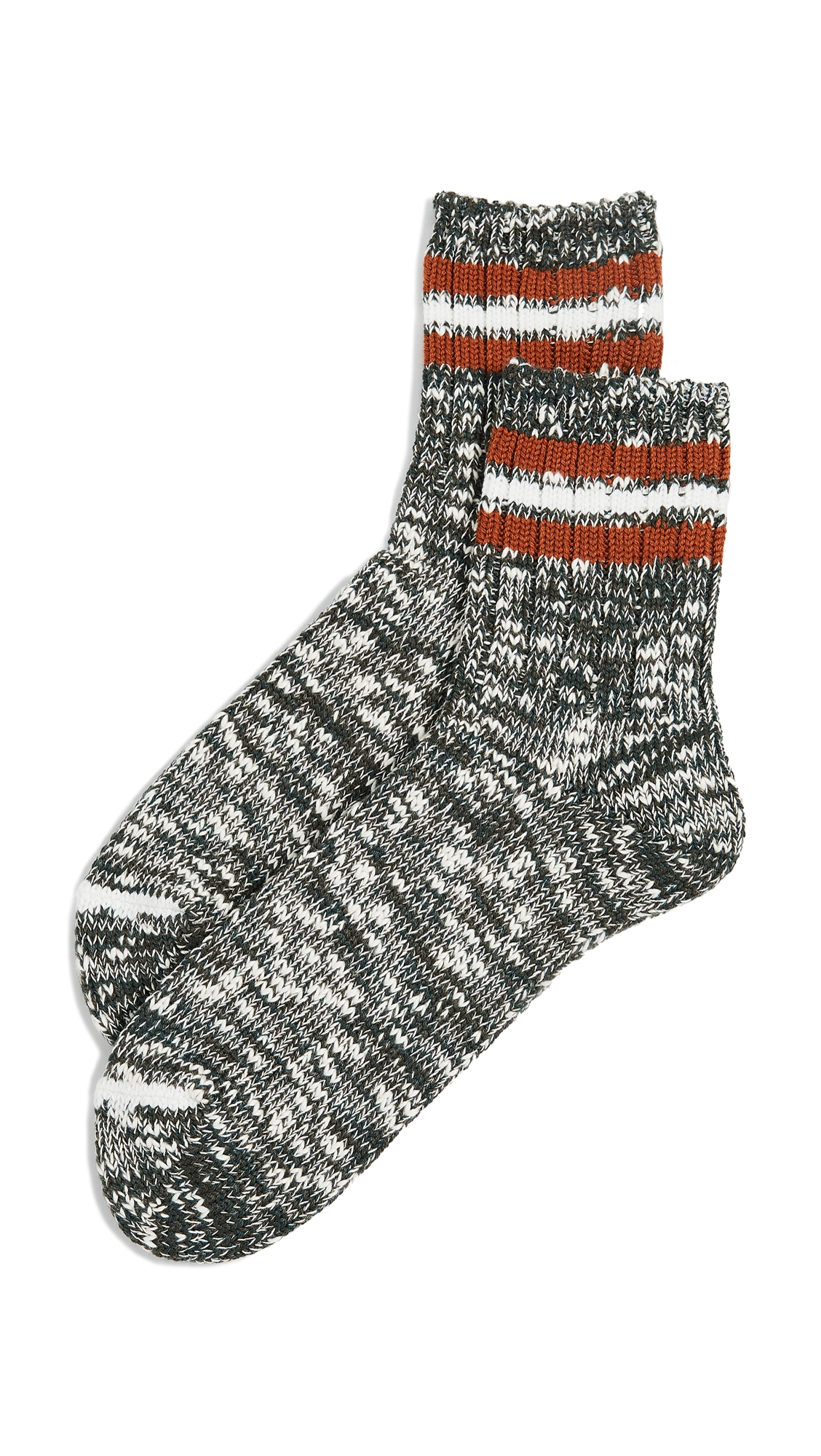 ANONYMOUS ISM 3-LINE SLUB QUARTER SOCKS
