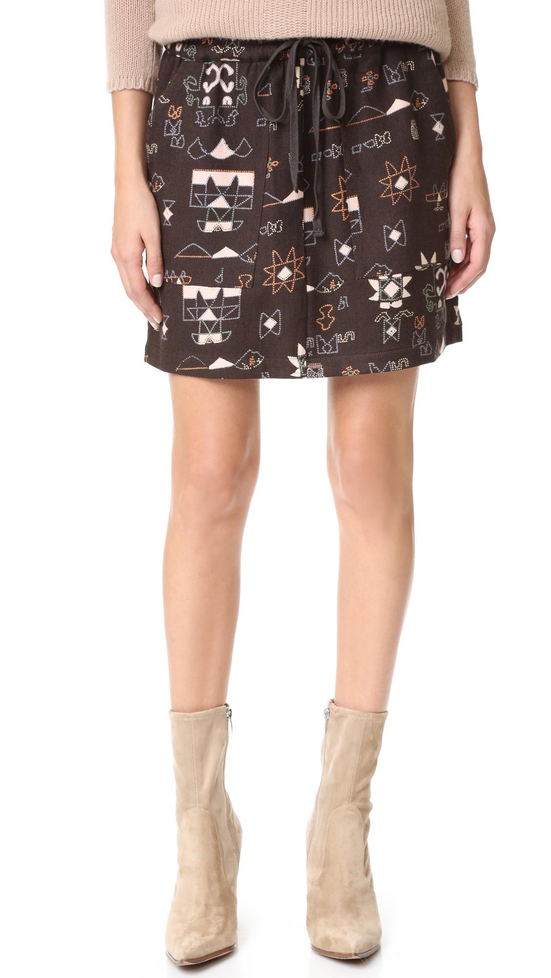 Antik Batik Chain Skirt - Faded Black at Shopbop