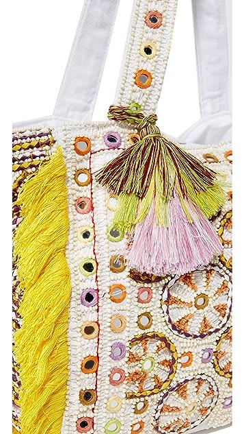 Antik Batik Объемная сумка с короткими ручками Kino Cabas