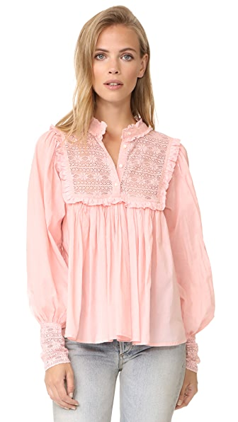 Antik Batik Gaia Blouse In Pink
