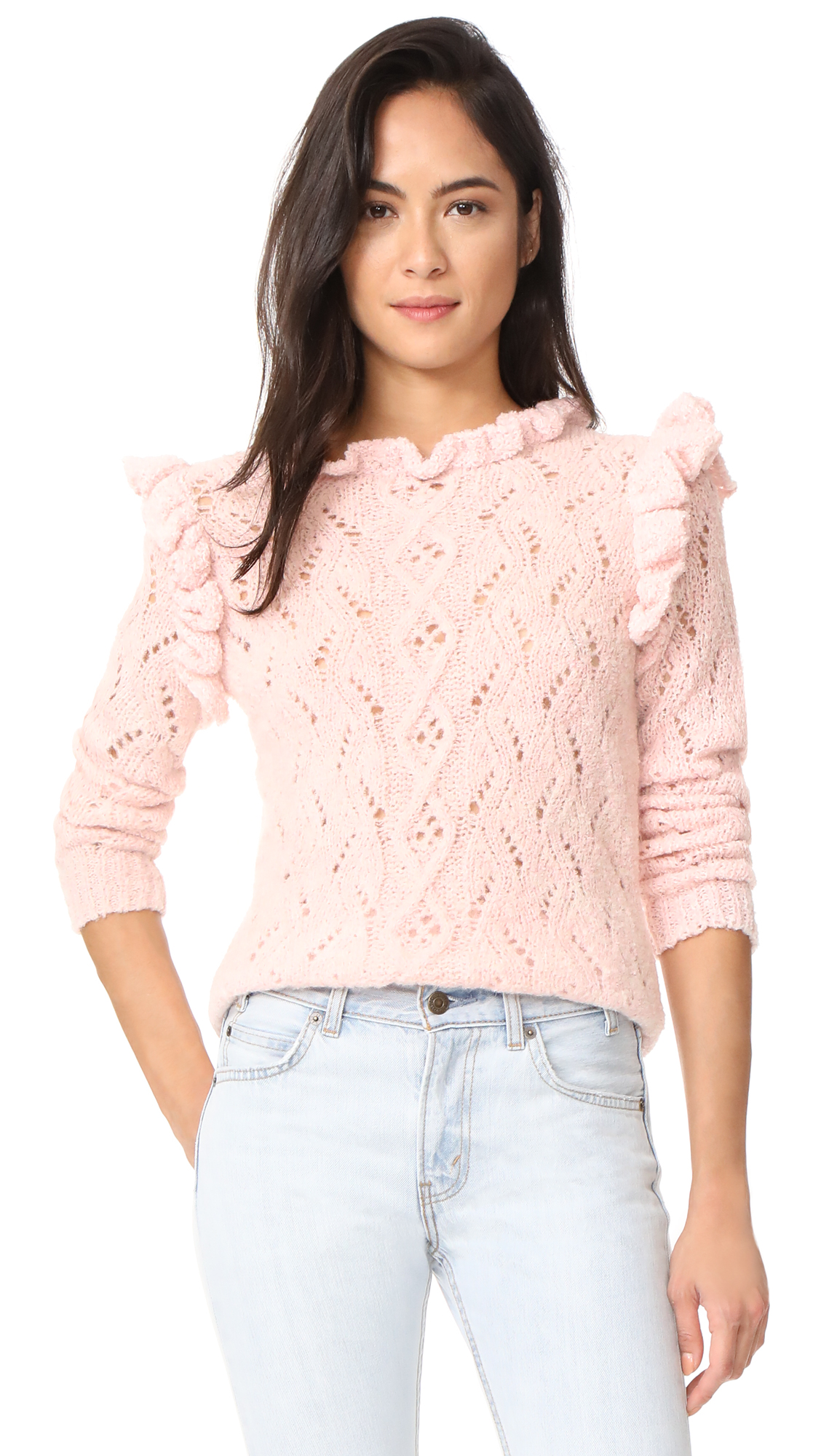 Antik Batik Melody Ruffle Sweater