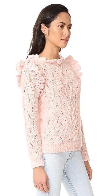 Antik Batik Melody Ruffle Sweater