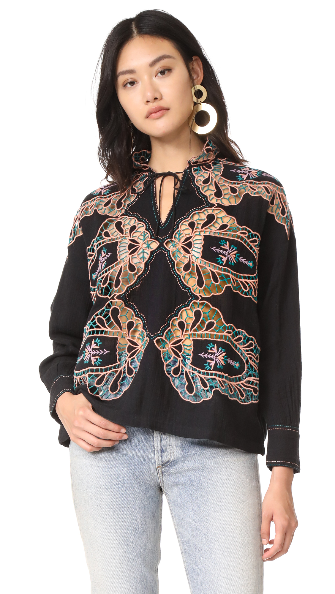 Antik Batik Paula Embroidered Blouse