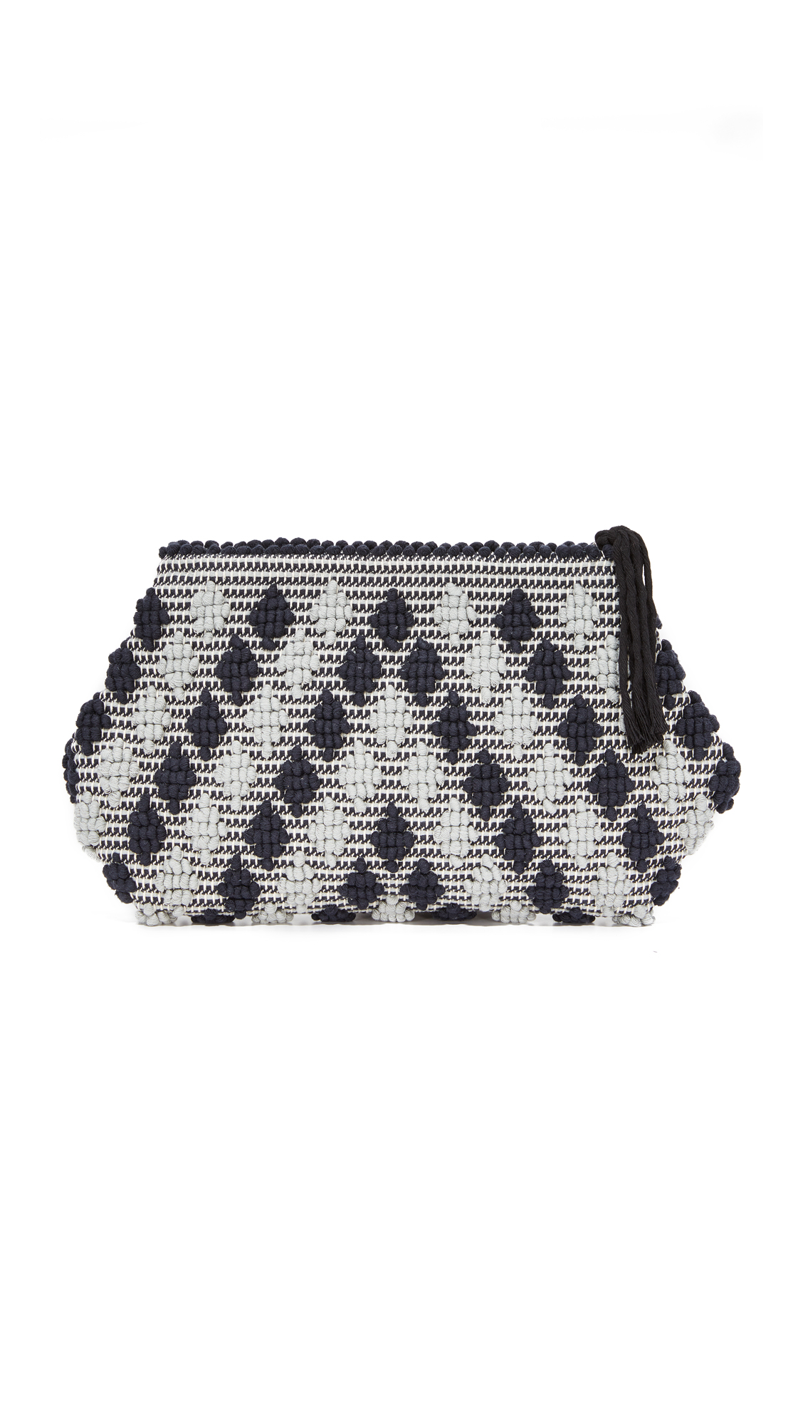 Antonello Piatta Rombetti Clutch - Black/Grey