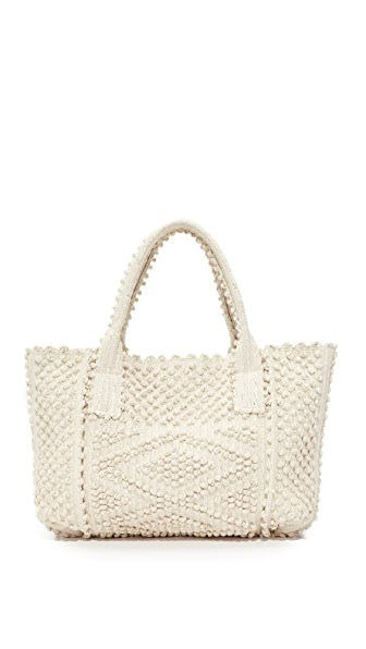 Antonello Urtei Rombi Tote In Cream/Gold