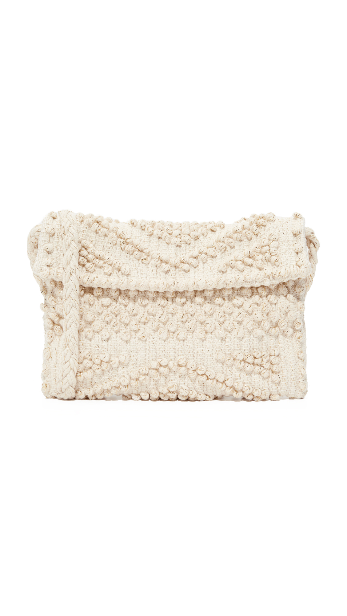 Antonello Suni Rombi Clutch - Cream/Gold