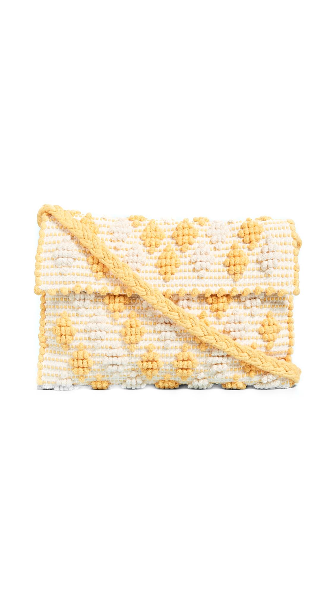 Antonello Suni Rombetti Clutch - Yellow/Cream