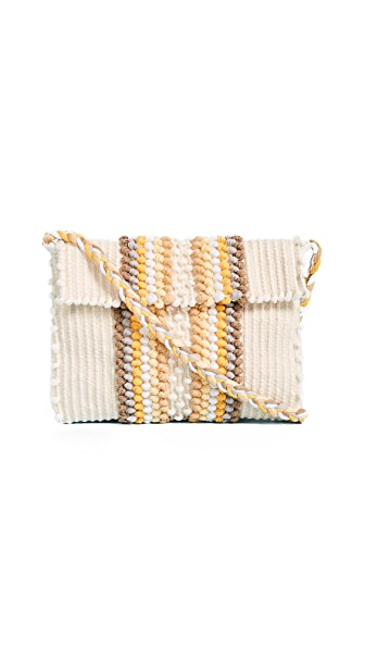 Antonello Suni Clutch In Ecru/Multi