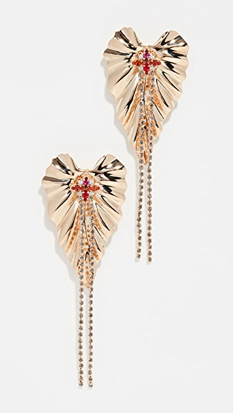 Anton Heunis Accessories DANGLY GOLDEN IVY EARRINGS