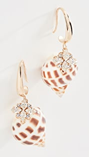 Anton Heunis Shell Crystal Earrings
