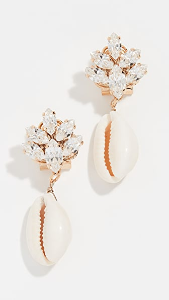 Anton Heunis Accessories OMEGA CLASP CLUSTER SHELL EARRINGS