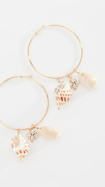 Anton Heunis Accessories SHELL HOOP EARRINGS