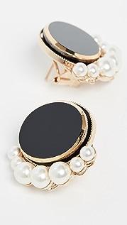Anton Heunis 椭圆形人造珍珠耳环