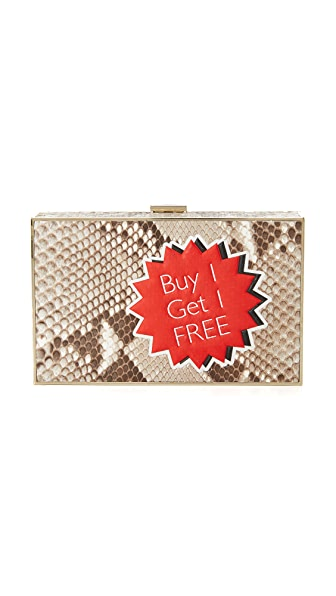 Anya Hindmarch Imperial Python Clutch - Natural