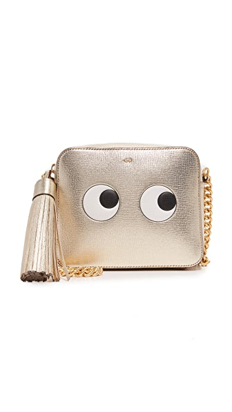 Anya Hindmarch Eyes Cross Body Bag - Light Gold