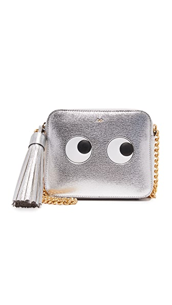 Anya Hindmarch Eyes Cross Body Bag - Silver