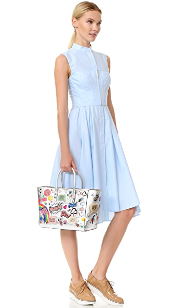 Anya Hindmarch Ebury Small Allover Wink Stickers Tote