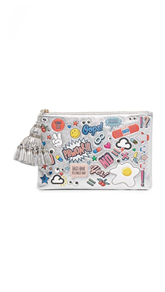 Anya Hindmarch Georgiana All Over Wink Clutch - Silver