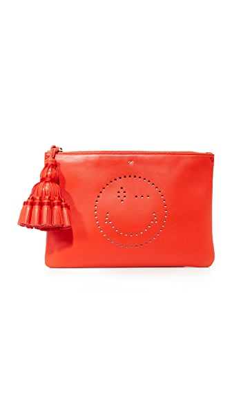 Anya Hindmarch Georgiana Wink Clutch - Flame Red