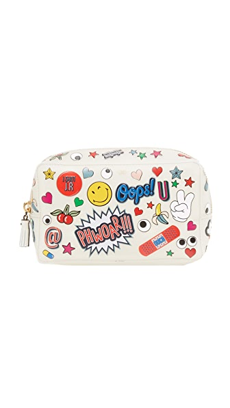 Anya Hindmarch All Over Wink Make Up Pouch - Chalk