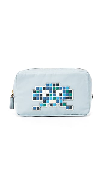Anya Hindmarch Robot Makeup Pouch - Duck Egg