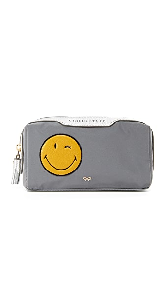 Anya Hindmarch Wink Girlie Stuff Pouch - Grey