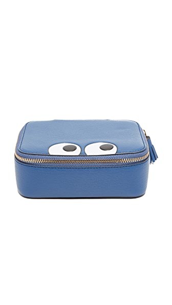 Anya Hindmarch Keepsake Pouch with Eyes - Blueberry
