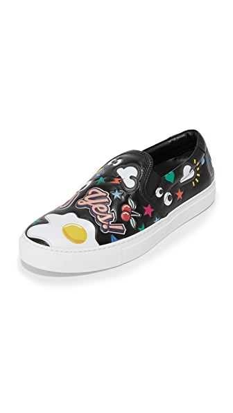 Anya Hindmarch Skater Sneakers With Allover Stickers - Black at Shopbop
