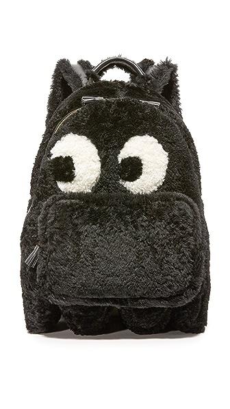 Anya Hindmarch Mini Ghost Shearling Backpack - Black at Shopbop