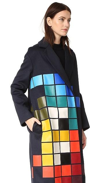 Anya Hindmarch Объемное пальто Space Invaders