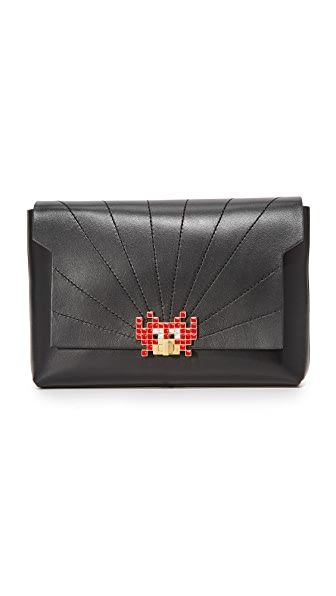 Anya Hindmarch Bathurst Space Invaders Clutch