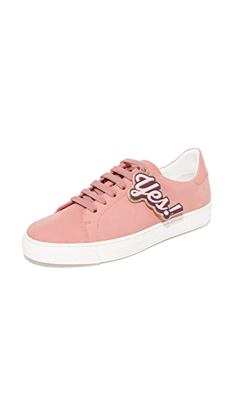 Anya Hindmarch Tennis Shoe Wink Sneakers - Powder Pink