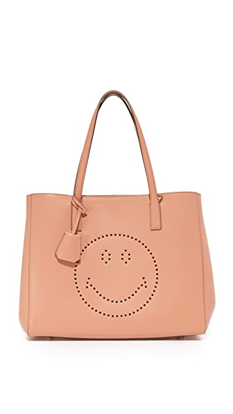 Anya Hindmarch Smiley Ebury Shopper Tote
