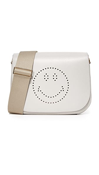 Anya Hindmarch Smiley Ebury Satchel - Bright Slate